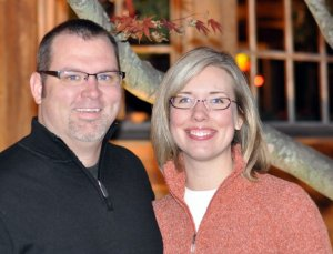 DH and I at Thanksgiving 2008
